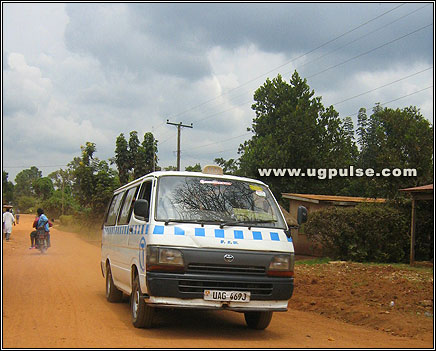 A kigege on its way to Kasenyi