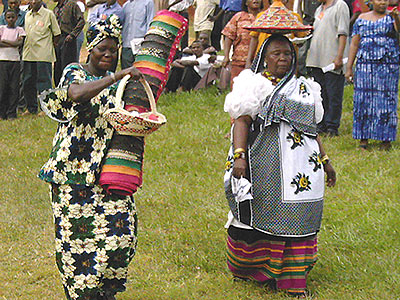 Gifts at an Ankole marriage.