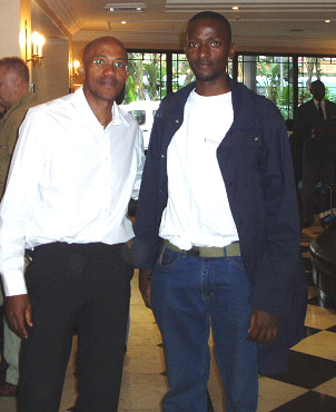 This is picture of myself and Namibian multiple olympic silver medalist FRANKIE FREDRICKS.