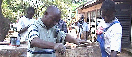 Makerere Art Lecturer Addresses Gender Issues with Garbage Bins