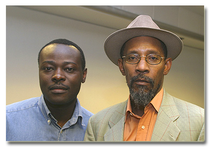 Helon Habila and that is LKJ of course - Linton Kwesi Johnson