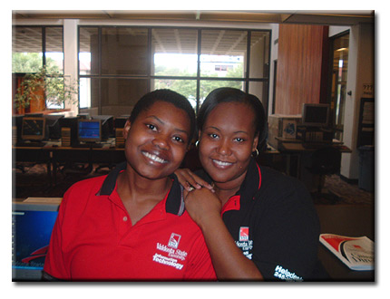 Sarah Tshila & Stephanie Dawson at Valdosta State University, GA, USA