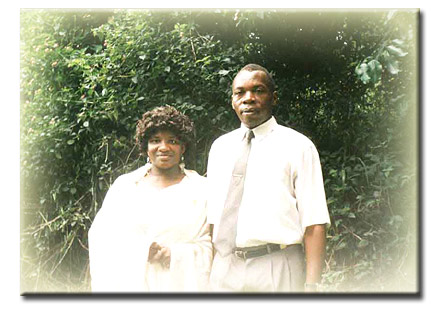 Mercy and John during their honeymoon in 1995