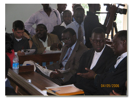 Besigye and his legal team awaiting rulling