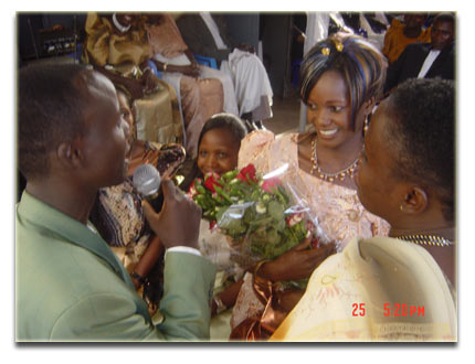The groom's sister selects the bride