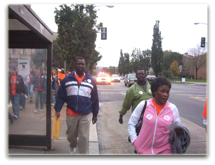 Betty Bigombe at GuluWalk, Washington DC 2005