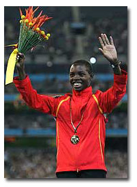 Dorcus Inzikuru at the March 2006 Commonwealth Games