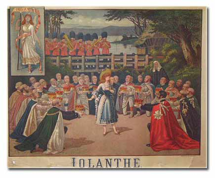 Lolanthe by Gilbert & Sullivan Lithograph