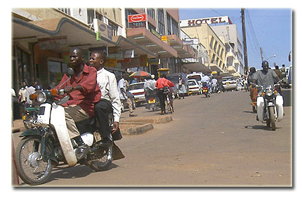 Motorcycle (boda boda) as found in Kampala