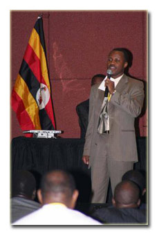 Abdul K. Kimbugwe Campaigning for UNAA President 2005