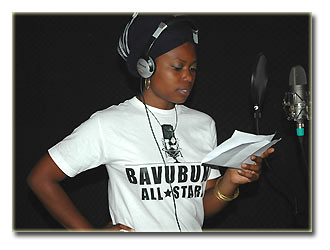 Tshila in the studio