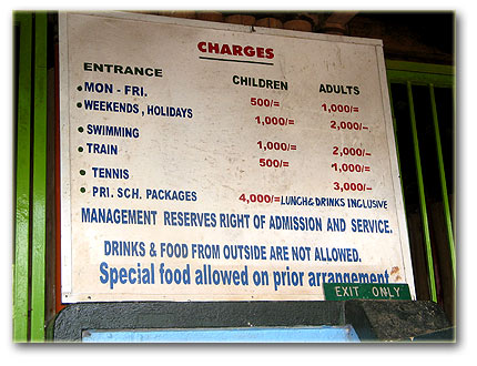 Charges at Kiwatule Recreation Center