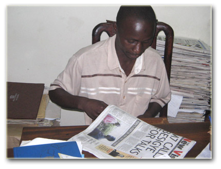 Isa Baluku at his office
