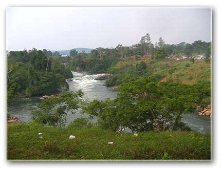 The nile river at Kalagala in kayunga district