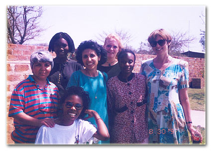 Nancy Oloro with some of her Zambian family in Zambia