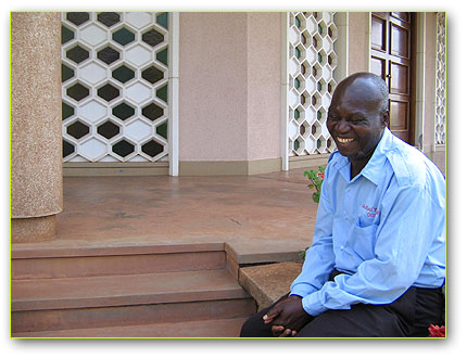 James Shimenya, one of the Guards/ guides at the Bah�'� Temple