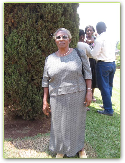 Mrs. Edith Ssenoga saw the Bahai Temple being built and launched in 1962