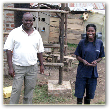 Sunfish Farms Ltd: Digo Tugumisirize with one of his workers