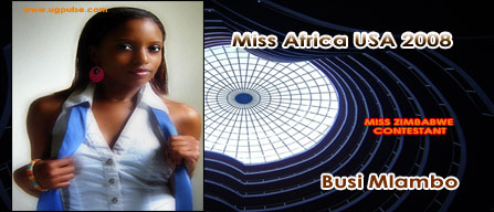 Miss Africa USA 2008: Contestant Busi Mlambo from Zimbabwe