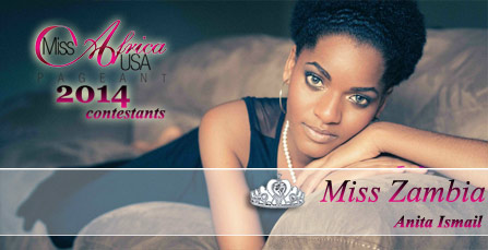 Miss Africa USA 2014: Contestant Anita Ismail from Zambia